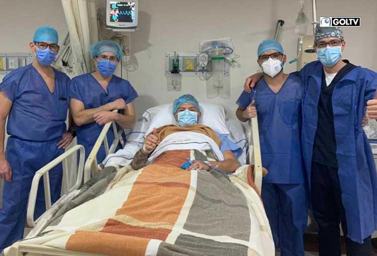 Brian Heras fue operado de una rotura de meniscos