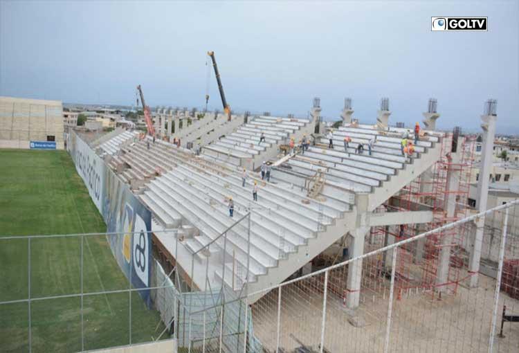El estadio Jocay de Manta se encuentra en remodelación