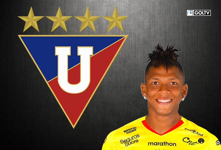 """Billy Arce es oficializado en """"El Rey de Copas"""" Liga de Quito"""
