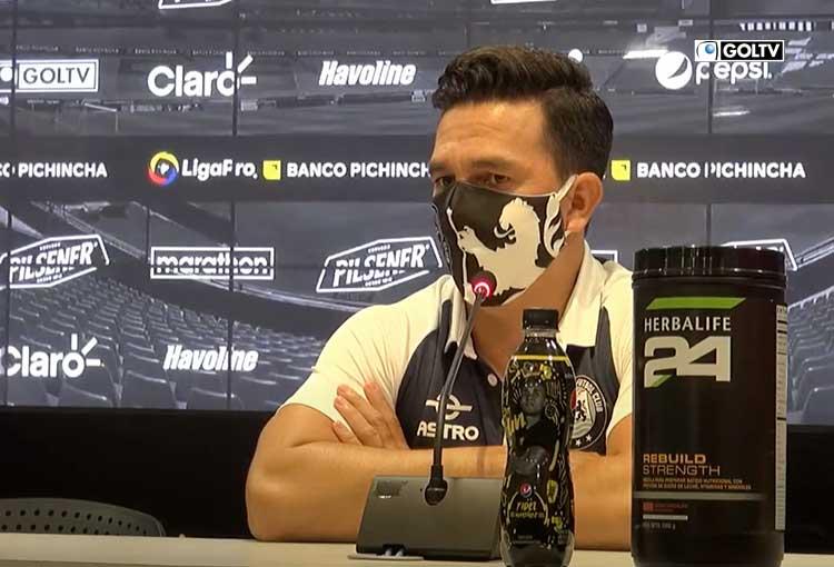 """Pool Gavilánez: """"El equipo mostró mejoría en este partido"""""""