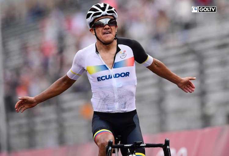 Felicidades Richard Carapaz por la medalla de oro en Tokio