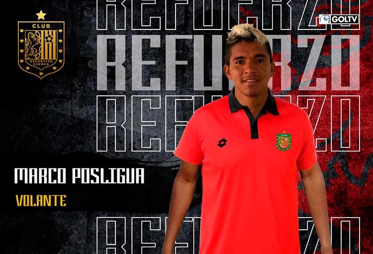 Deportivo Cuenca potencia su ataque con el fichaje de Marco Posligua