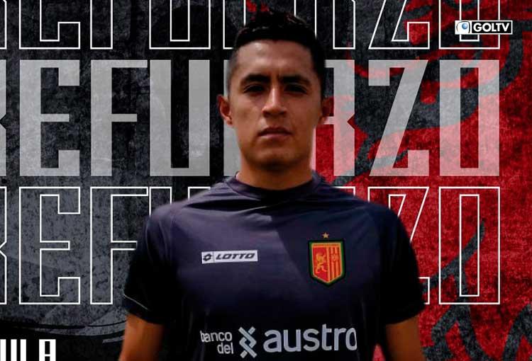 Deportivo Cuenca hizo oficial el fichaje de Anderson Naula