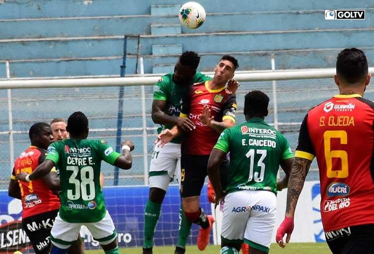 El duelo Orense-Deportivo Cuenca terminó igualado en el Nueve de Mayo de Machala