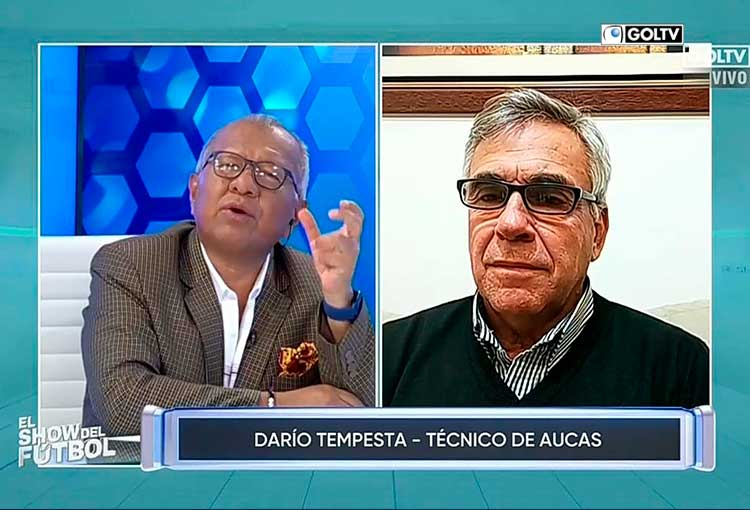 Darío Tempesta, DT de Aucas dialogó con El Show del Fútbol